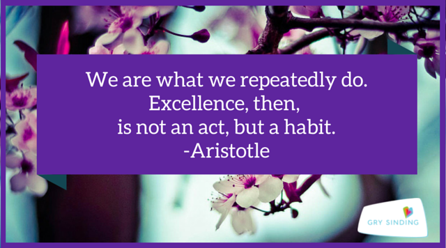 We are what we repeatedly do.(1)